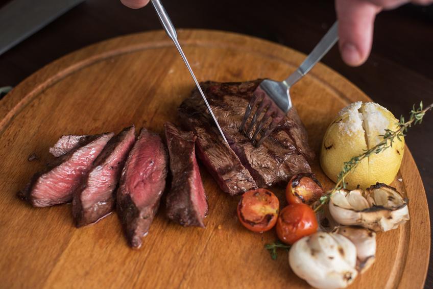 Carne argentina. Bife a la parrilla