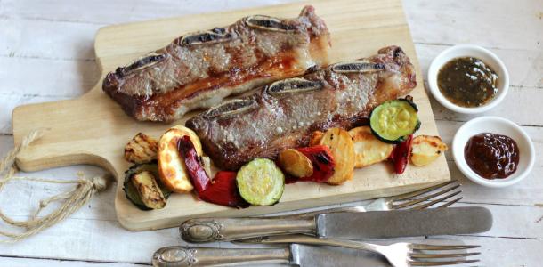 churrasco argentino o tira de asado