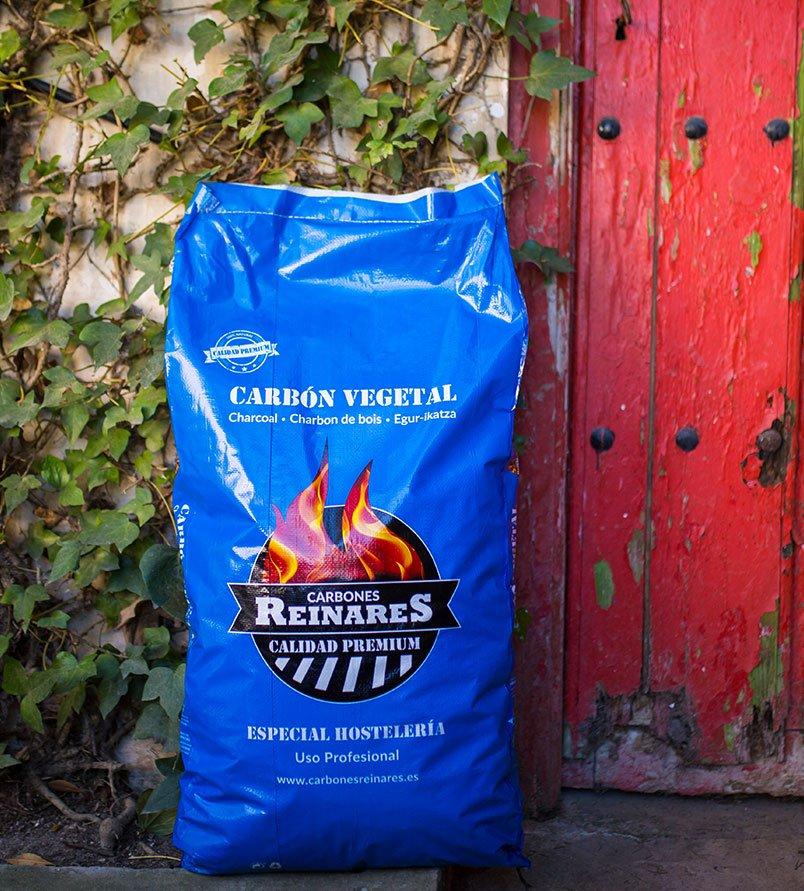 Carbón vegetal encina calidad premium 17kg portal