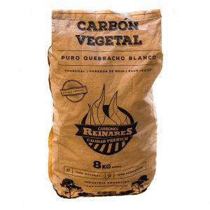 Carbón vegetal quebracho blanco calidad premium 8kg catalogo