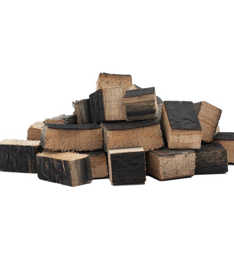 chunks de madera para ahumar