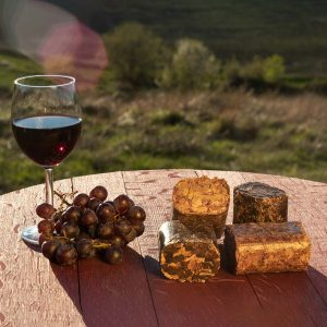 Foodie power blocks de Madera Natural para Ahumar con vino