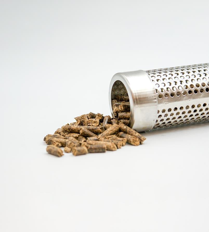 Tubo de acero Pellet smoker con pellets